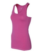 Alo W2006 Womens Bamboo Racerback Tank Berry & White - Large