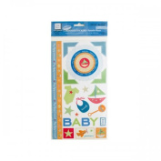 Bulk Buys Cg669 Baby Boy Cardstock Stickers Pack Of 24
