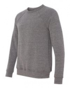 Bella-Canvas C3901 Unisex Sponge Fleece Crew Neck Sweatshirt Grey Triblend - Extra Small