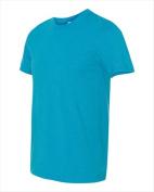 Bella-Canvas C3650 Unisex Poly-Cotton Short Sleeve T-Shirt Neon Blue Small