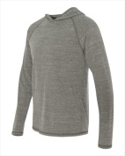 Alo M3101 Mens Performance Long Sleeve Hooded Pullover Grey Heather Triblend 2X
