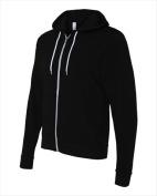 Bella-Canvas C3739 Unisex Poly-Cotton Fleece Full-zip Hoodie Black Medium