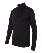 Alo M3006 Mens 0.25 Zip Lightweight Pullover Black Large