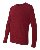Alo M3102 Mens Performance Long Sleeve T-Shirt Red Heather Triblend XL