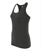 Alo W2170 Womens Performance Racerback Tank Charcoal Heather Triblend XL