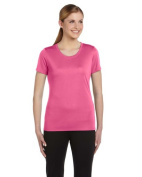 Alo W1009 Womens Performance Short Sleeve Tee - Pink Extra Large