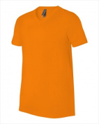 Bella-Canvas C3005 Unisex Jersey Short Sleeve V-Neck Tee - Orange Small