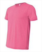 Bella-Canvas C3650 Unisex Poly-Cotton Short Sleeve T-Shirt - Neon Pink Extra Small