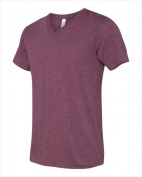 Bella-Canvas C3415 Unisex Short Sleeve V-Neck T-Shirt - Maroon Triblend Extra Large