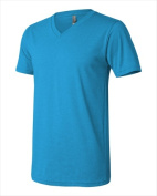 Bella-Canvas C3005 Unisex Jersey Short Sleeve V-Neck T-Shirt - Neon Blue Small