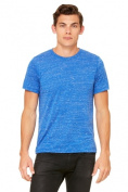Bella-Canvas C3650 Unisex Poly-Cotton Short Sleeve Tee - True Royal Marble Extra Large