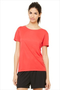 Alo W1009 Womens Performance Short Sleeve Tee - Sport Red Large