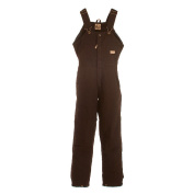 Berne Apparel WB515DBNS480 Ladies Washed Insulated Bib Overall Dark Brown - Extra Large