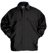 Berne Apparel CH416BKT440 44/Large Original Chore Coat - Quilt Lined Tall - Black