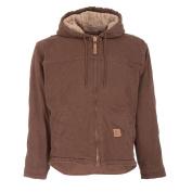 Berne Apparel HJ626BBR480 Washed Hooded Work Coat Bark - Extra Large