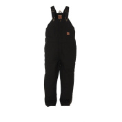 Berne Apparel BB21BKR400 Youth Washed Insulated Bib Overall Black - Medium