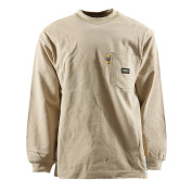 Berne Apparel FRK11KHT440 Fr Crew Neck T-Shirt Khaki - Large