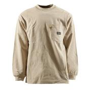 Berne Apparel FRK11KHT440 Fr Crew Neck T-Shirt Khaki - Large