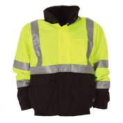 Berne Apparel HVJ203YWR400 Hi-Visibility Waterproof Jacket Yellow - Medium