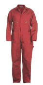 Berne Apparel C231RDR440 44 Regular Deluxe Unlined Coverall - Red
