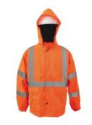 2W 730C-3 3XL 100 Percent Waterproof Rain Jacket - Orange 3 Extra Large