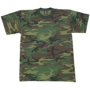 Fox Outdoor 64-24C CAMO S Boys Short Sleeve T-Shirt - Woodland Camo Small