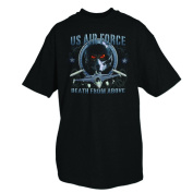 Fox Outdoor 63-74 S US Air Force Death From Above Mens T-Shirt Black - Small