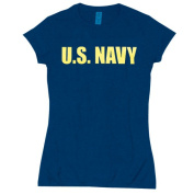 Fox Outdoor 64-093 M Womens U.S. Navy Imprint Cotton Tee - Navy Medium