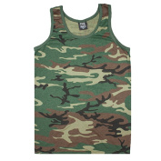 Fox Outdoor 64-74 M Mens Tank Top Woodland Camouflage - Medium
