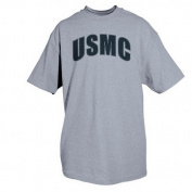 Fox Outdoor 63-917 M Usmc Grey T-Shirt With Black Imprint - Medium