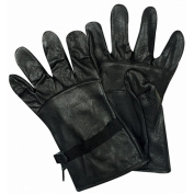 Fox Outdoor 79-235 03 GI Type Leather Glove Shell Black - Size 3