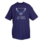 Fox Outdoor 64-436 L United States Air Force Wings T-Shirt Navy - Large