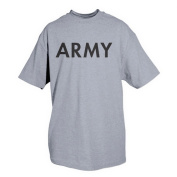 Fox Outdoor 64-55 XL Army One-Sided Imprinted T-Shirt Grey - Extra Large