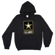 Fox Outdoor 64-842 XXL Army Star Pullover Hoodie Sweatshirt Black - 2 XL