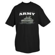 Fox Outdoor 64-473 XXXL United States Army With Tank T-Shirt Black - 3 Extra Large