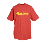 Fox Outdoor 64-625 XXXL Marines One-Sided Imprinted T-Shirt Red - 3X Large