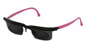 Adlens EM02- S-BK-PK Sundials Black Frame & Pink Temples With Grey Tinted Alvarez Lens