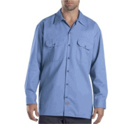 Dickies 574GB 2X Mens Long Sleeve Twill Work Shirt Gulf Blue 2X