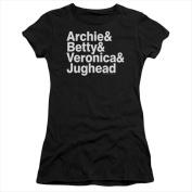 Archie Comics-Ampersand List - Short Sleeve Junior Sheer Tee Black - Small