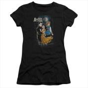 Archie Comics-Cover No. 146 - Short Sleeve Junior Sheer Tee Black - Small