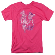 Archie Comics-Its Pussycat Time - Short Sleeve Adult 18-1 Tee Hot Pink - Medium