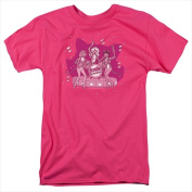 Archie Comics-Kitty Band - Short Sleeve Adult 18-1 Tee Hot Pink - Extra Large