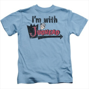 Archie Comics-I Am With Jughead - Short Sleeve Juvenile 18-1 Tee Carolina Blue - Small 4