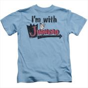 Archie Comics-I Am With Jughead - Short Sleeve Juvenile 18-1 Tee Carolina Blue - Small 4