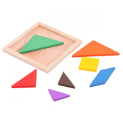 Lalang Children Kids Tangram Puzzle Toys Wooden Jigsaw Puzzle Educational Learning Toy