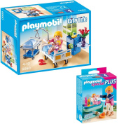 PLAYMOBIL City Life friendly children's Hospital 2-part set 6660 5368 Sickroom with Bed + Mother with Baby-Changing