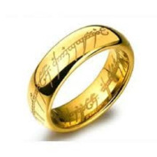 """6 mm Tungsten Ring LORD OF THE RINGS """"THE LORD OF THE RINGS"""" T62"""