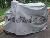 Bicycle Bike Rain Dust Snow Waterproof Cover Dust Protector Cover Waterproof Protection Garage - Grey