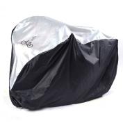 Nylon Waterproof Bike Bicycle E-bike Fully Rain Resistant Outdoor Cover, Black/Silver, 190 x 72 x 110 cm,IDEAL FOR SINGLE BIKE