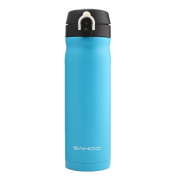 Bike Cycling Water Bottle Thermos flask Stainless Steel Insulated Water Bottle Sports Bottle for Cycling Hiking Office Gym 450ML BPA Free Water Canteen Drinking Bottle